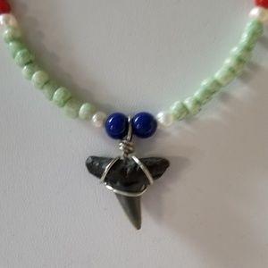 Real Shark Tooth Handmade Beaded Necklace